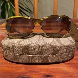 Coach Sarah Striped Tortoise Sunglasses
